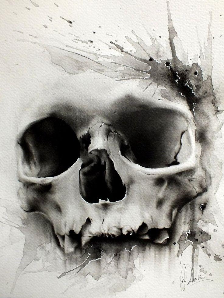 Dessin tatouage tête de mort                                                                                                                                                     Plus