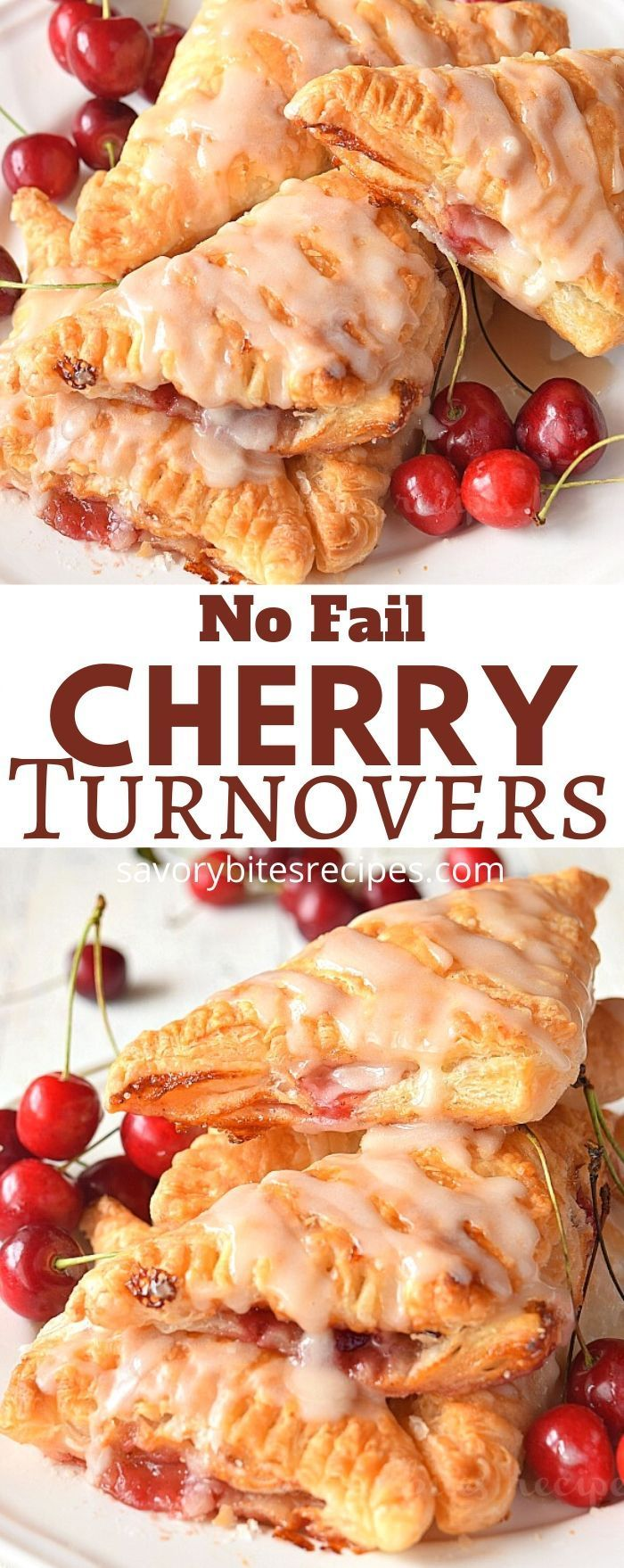 Very easy cherry turnovers{with puff pastry} makes them so amazing,with vanilla glaze! You wont believe whether these ch…