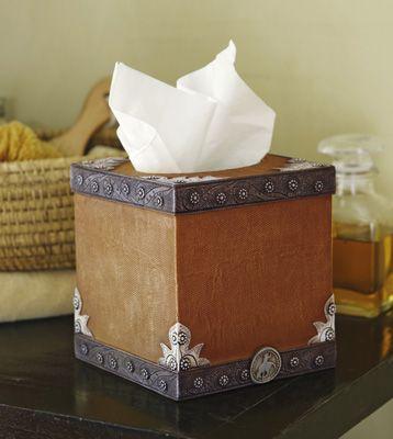 Western Bathroom Tissue Box Cover