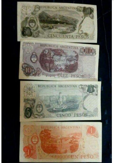 Billetes Argentinos del '70 al '83