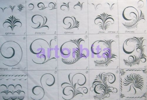 Рисунок. Хохломская травка - хохломская роспись