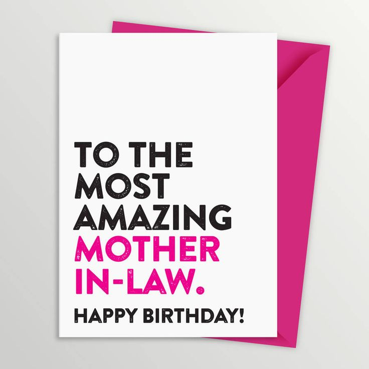most amazing mother in law birthday card by a is for alphabet | notonthehighstreet.com