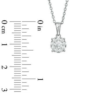 1/3 CT. T.W. Diamond Composite Round Pendant in 10K White Gold | Diamond Necklaces | Necklaces | Zales