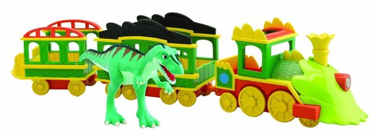 #Dinosaur #Train #Lights #Sounds #Train #with #Laura #For #Children #Toys #Games
