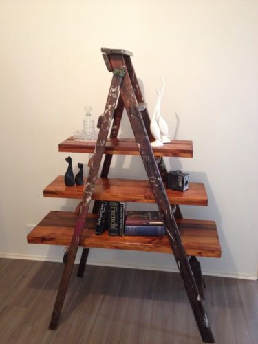 Vintage Industrial Kennett Ladder Rustic Shelving