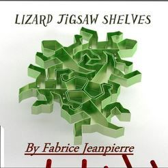 Lizard jigsaw shelves