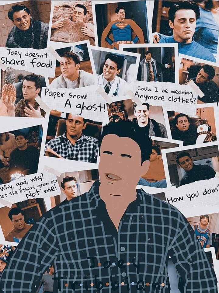 Joey Tribbiani | Friends | Friends moments, Friends wallpaper