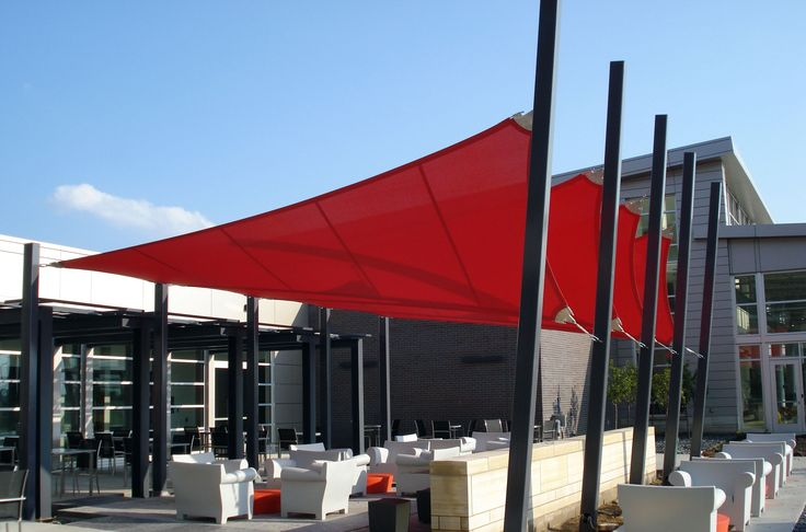 deck shade structure | Fabric Shade Tension Structure College Patio
