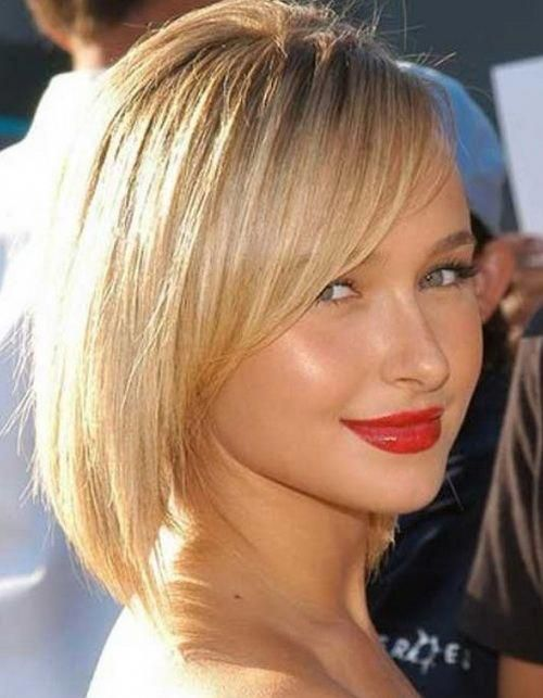 Stylish asymmetrical side fringe hairstyle #choppybobhairstyles