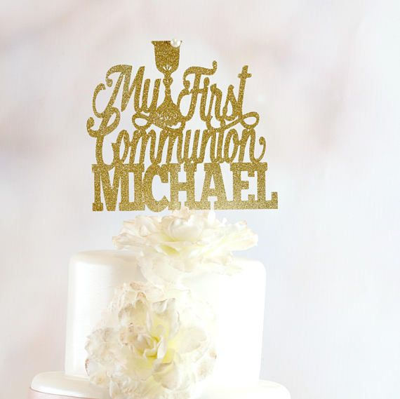 First Communion ANY NAME COLOR Personalized Religious Cake