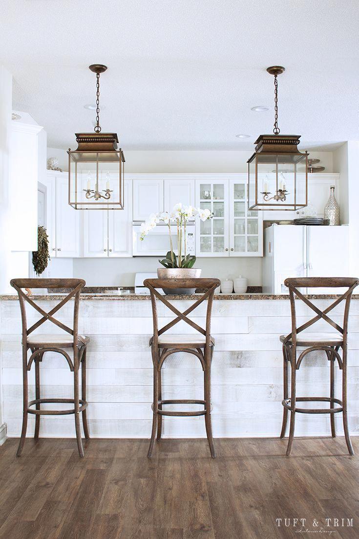 Kitchen Lighting Update Reveal Farmhouse Style Kitchen With Lantern Modernkitchen Kuchen Design Kuchen Inspiration Architektur Innenarchitektur