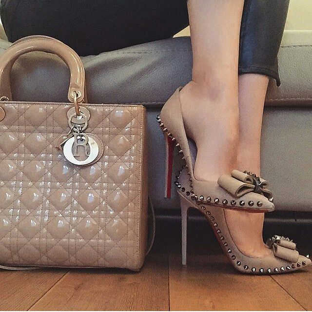 Beige Neutral Christian Dior Stunning Heels Business Lady Style
