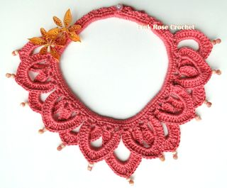 PINK ROSE CROCHET /: Colar Moema - Crochet Collar Necklace