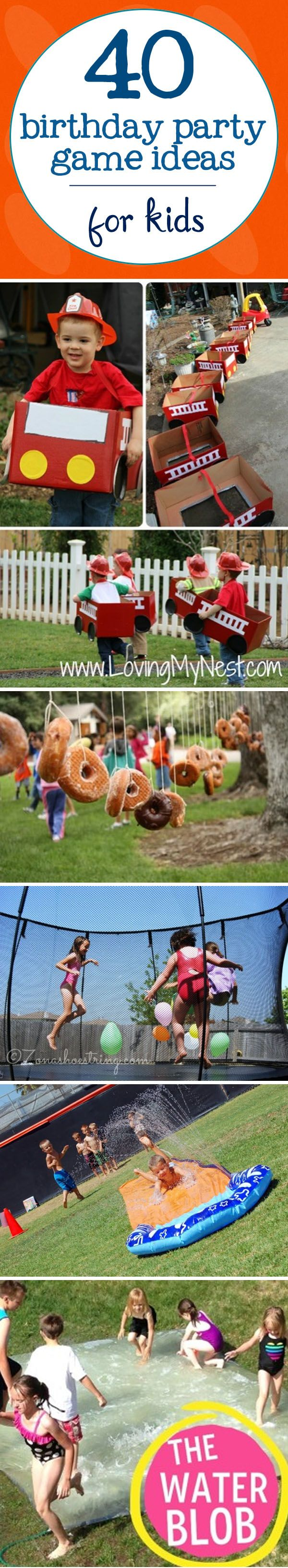 40 Birthday Party Game Ideas For Kids #birthdays #kids #games | www.signs.com