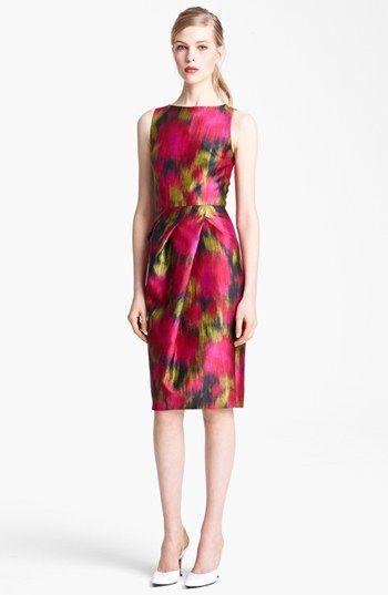 Michael Kors Zinnia Print Shantung Dress available at #Nordstrom Must find a Pattern to match!!!
