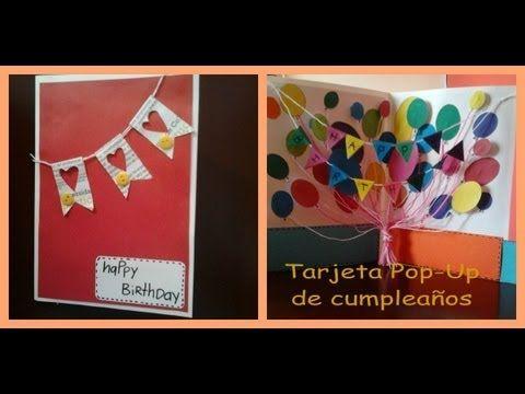 tarjeta Pop-Up de cumpleaños - YouTube