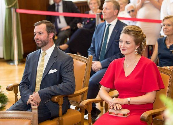 "Hereditary Grand Duke Guillaume and Hereditary Grand Duchess Stephanie visited the Esch (Esch-sur-Alzette, Luxembourg's second largest city) on June 22, 2017 before ""National Day"". The Grand Duke's Official Birthday also known as Luxembourgish National Day is celebrated as the annual national holiday of Luxembourg on 23 June."