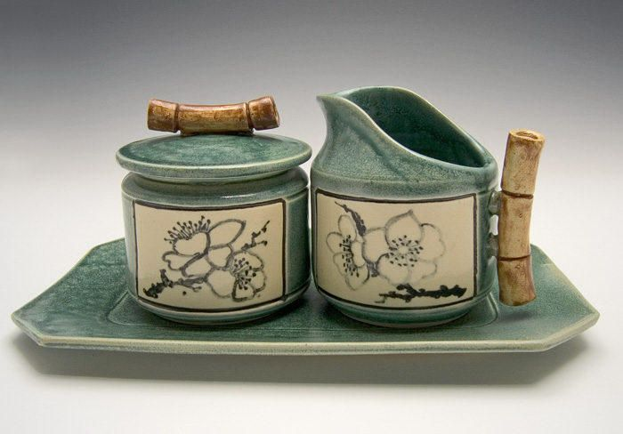 printsandpotter.com   CERAMICS and POTTERY   Bonnie Belt's beautiful cream pitchers, sugar jars, and mugs are available at Prints and the Potter Gallery in Worcester, MA