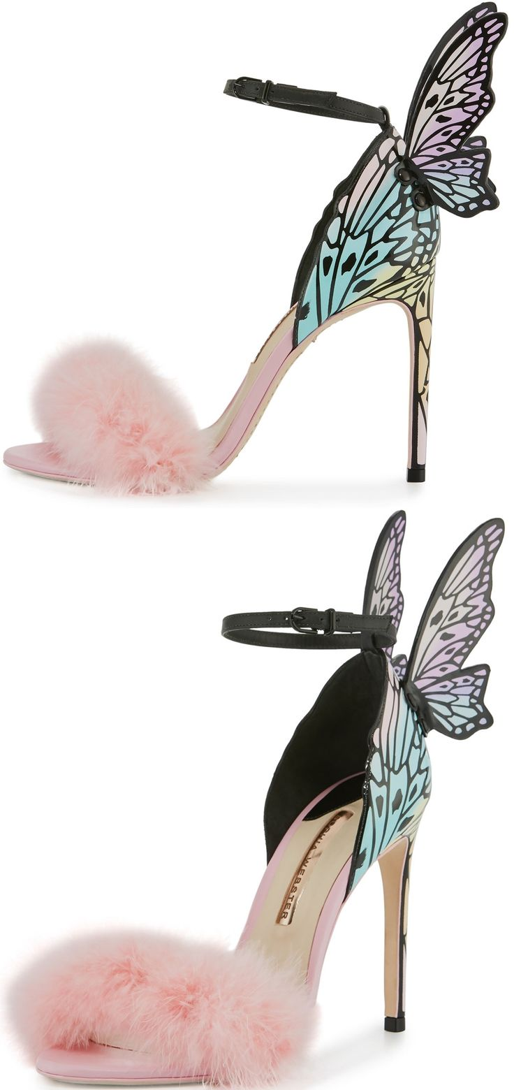 SOPHIA WEBSTER Butterfly feather embellished sandals o6iTn
