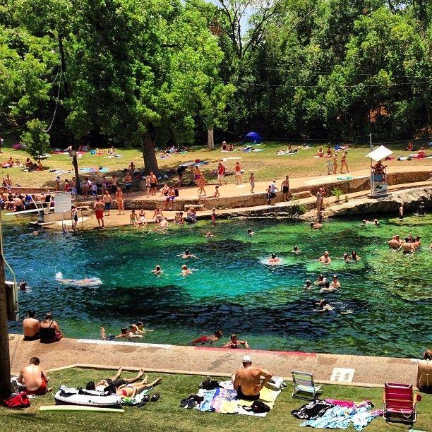Summer Days Barton Springs Pool Bucket List Texas