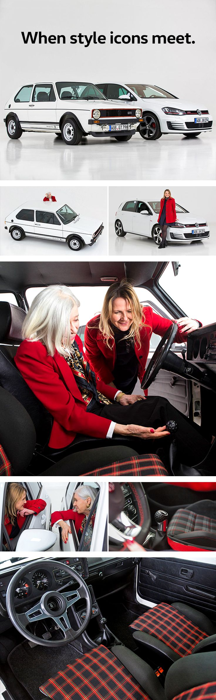 In the context of the celebrations of the 40th anniversary of the Golf GTI, Gunhild Liljequist and Manuela Joosten met for the first time. Both women have had a huge impact on the interior designs of different generations of Volkswagen's most famous model. While Liljequist helped to design the interior of the very first GTI, Joosten worked on that of the latest Golf GTI VII.