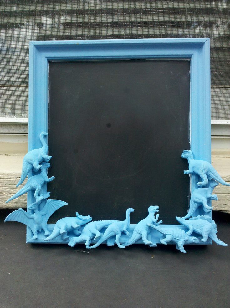 blue dinosaur chalkboard.