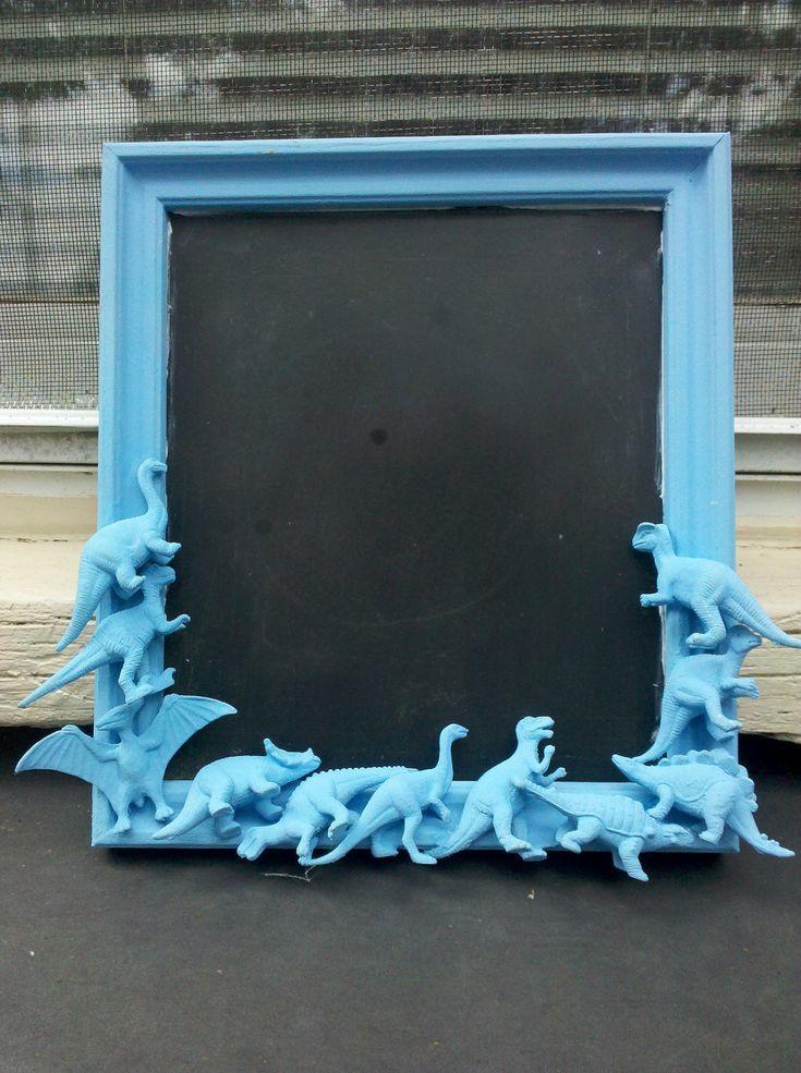 blue dinosaur chalkboard. love dinos.