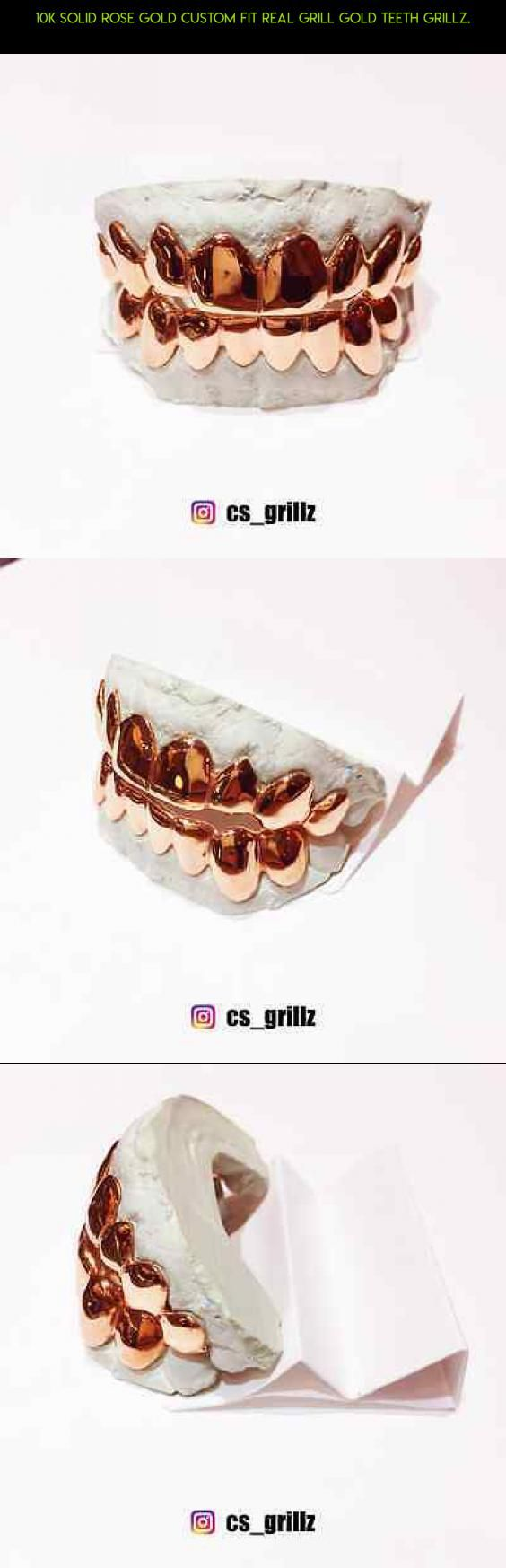 10K Solid Rose Gold Custom Fit REAL Grill Gold Teeth GRILLZ. #rose #fpv #shopping #tech #gadgets #grills #racing #technology #products #drone #kit #camera #plans #gold #parts