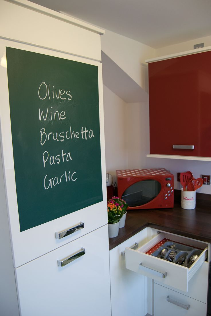 d-c-fix chalkboard film is ideal for use on kitchen cupboards or fridge  doors