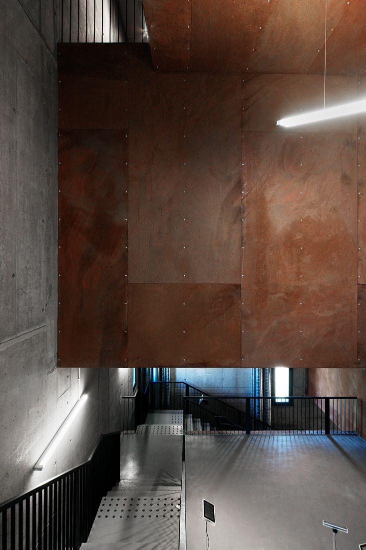 Kemenes Volcanopark Visitor Center | Foldes Architects | www.foldesarchitects.hu | #architecture #museum #interior #volcano #corten #steel #concrete #stairs