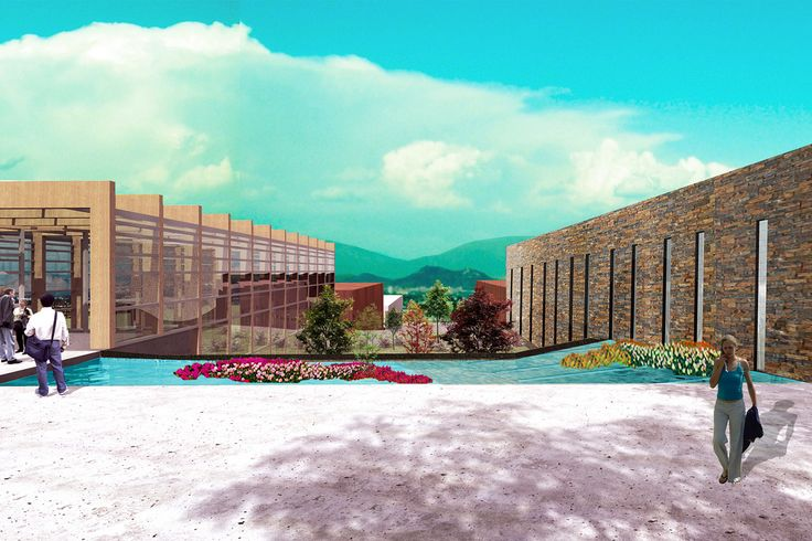 """Fotomontaje realizado como encargo para presentación de de Titulo Unab, El proyecto arquitectónico de la autora Gabriela Jaramillo: REUTILIZACION YACIMIENTO MINERO EN ESTADO DE ABANDONO_JARDÍN BOTÁNICO """"LA AFRICANA"""""""