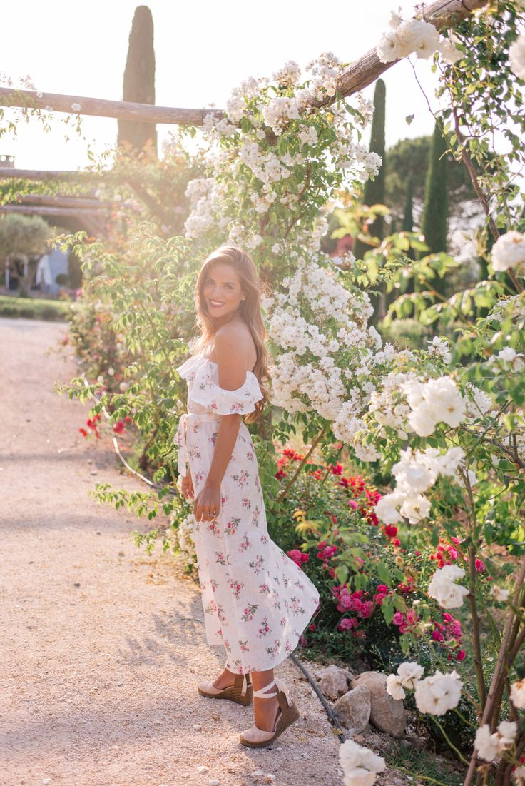 "Gal Meets Glam Bastide De Marie & Lacoste, Provence - Reformation dress, Castaner espadrilles & Laura Mercier lipstick in ""Boudoir"""