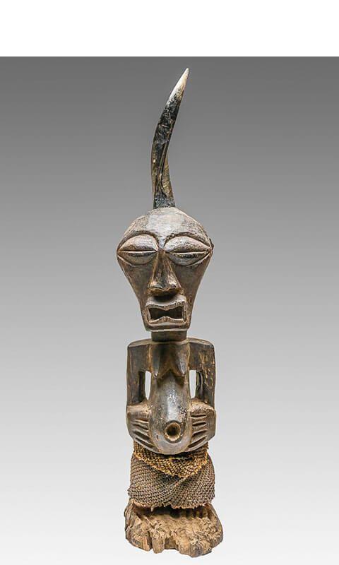 Statues africaines en bois en vente : Estatua fetiche Nkishi Songye RDC