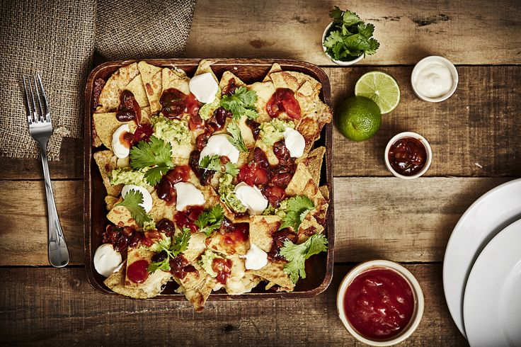 Nachos with bean chilli Styled by Paul Dickson  bossmodelmanagement.co.uk