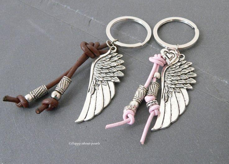 Schlüsselanhänger - Partner Schlüsselanhänger - ein Designerstück von Happy-about-pearls bei DaWanda