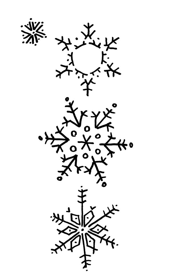 how to draw a snowflake on paper