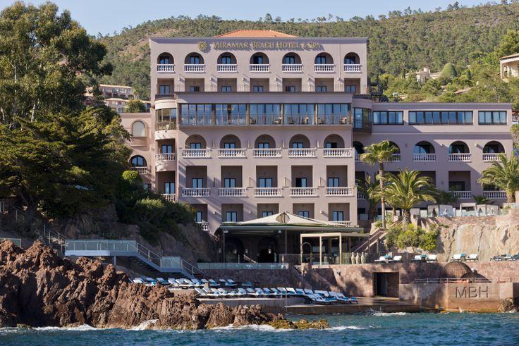 The Tiara Miramar Beach #Hotel & Spa seen from the Mediterranean. Le Tiara Miramar Beach Hôtel & #Spa vu de la Méditerranée.