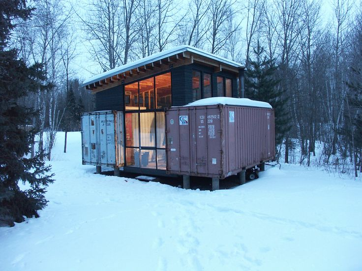 Intermodal design stankey cabin holyoke mn for Hive container homes