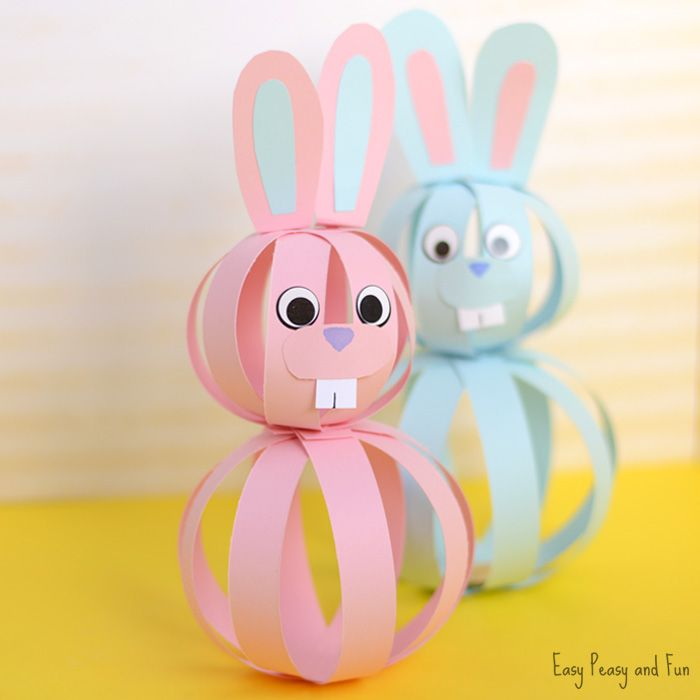 389 best easter activities images on pinterest easter activities easy paper bunny craft easter idea for kids negle Choice Image
