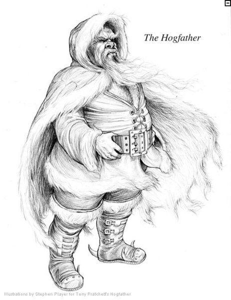 The Hogfather - Hogfather by Stephen Player. Sir Terry Pratchett Discworld.