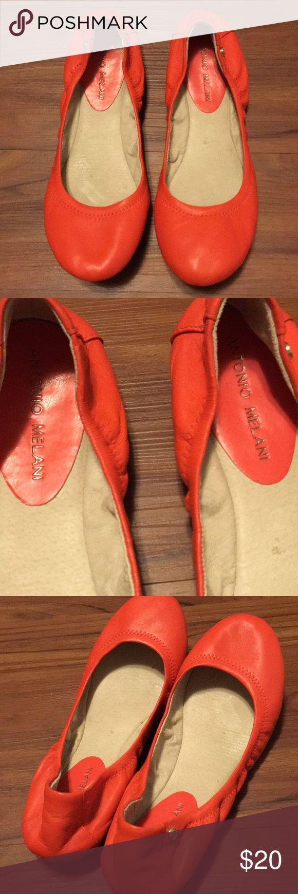 Antonio Melani Orange Flats 8.5 Antonio Melani orange flats size 8.5, fabulous condition only worn once lightly. ANTONIO MELANI Shoes Flats & Loafers