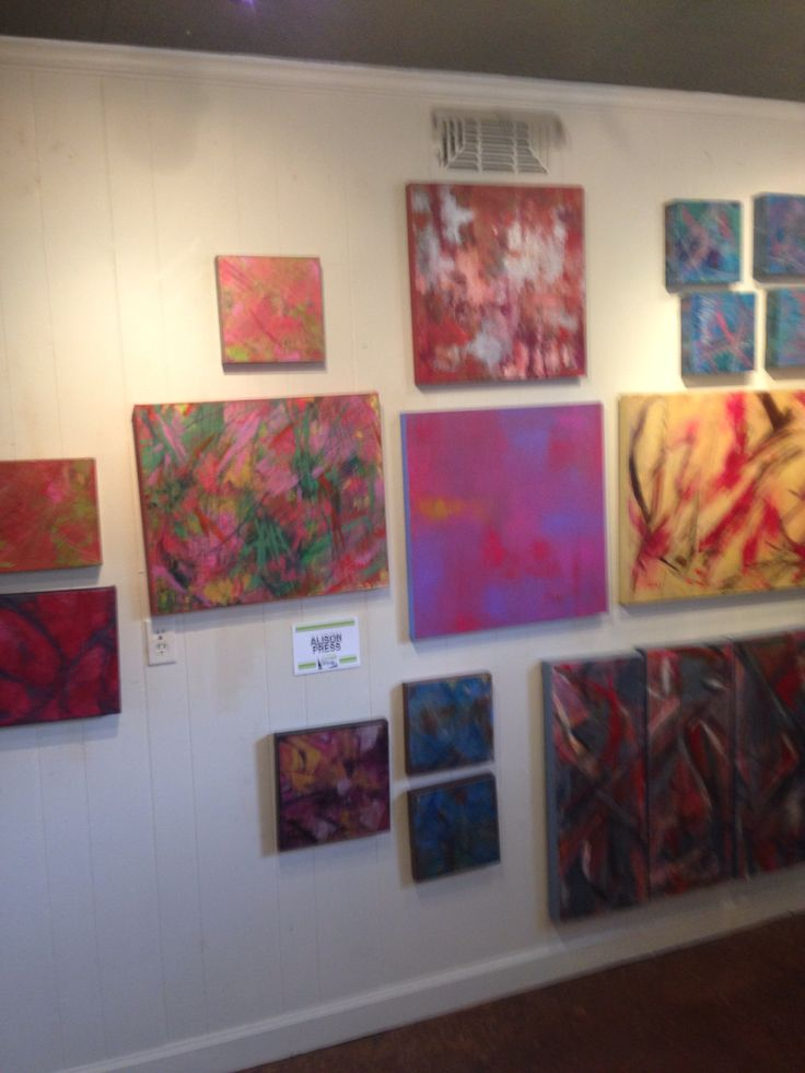 At Synergy Galllery - layered abstract paintings... Working on new paintings to hang soon!