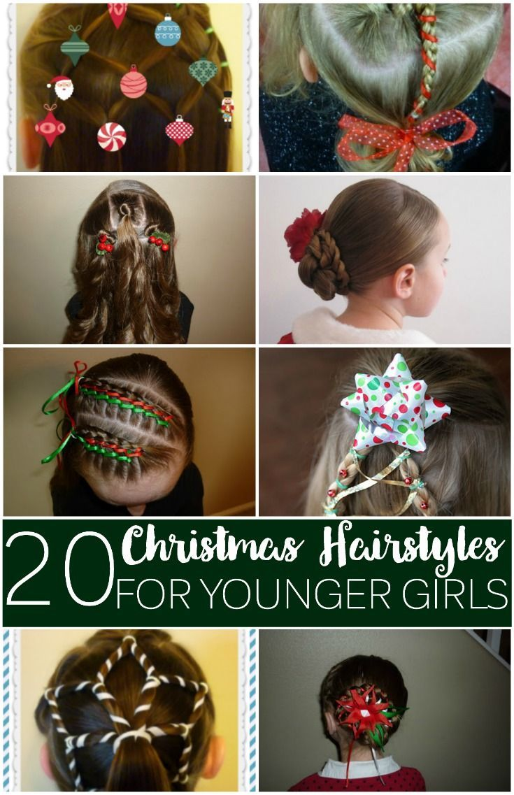 In need of some holiday hairstyles? Check out thisbatch of Christmas hairstyles for younger girls.