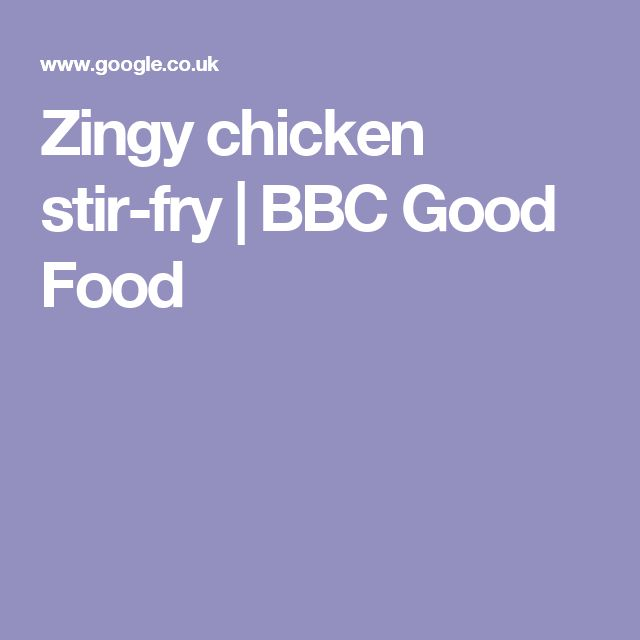 Zingy chicken stir-fry | BBC Good Food