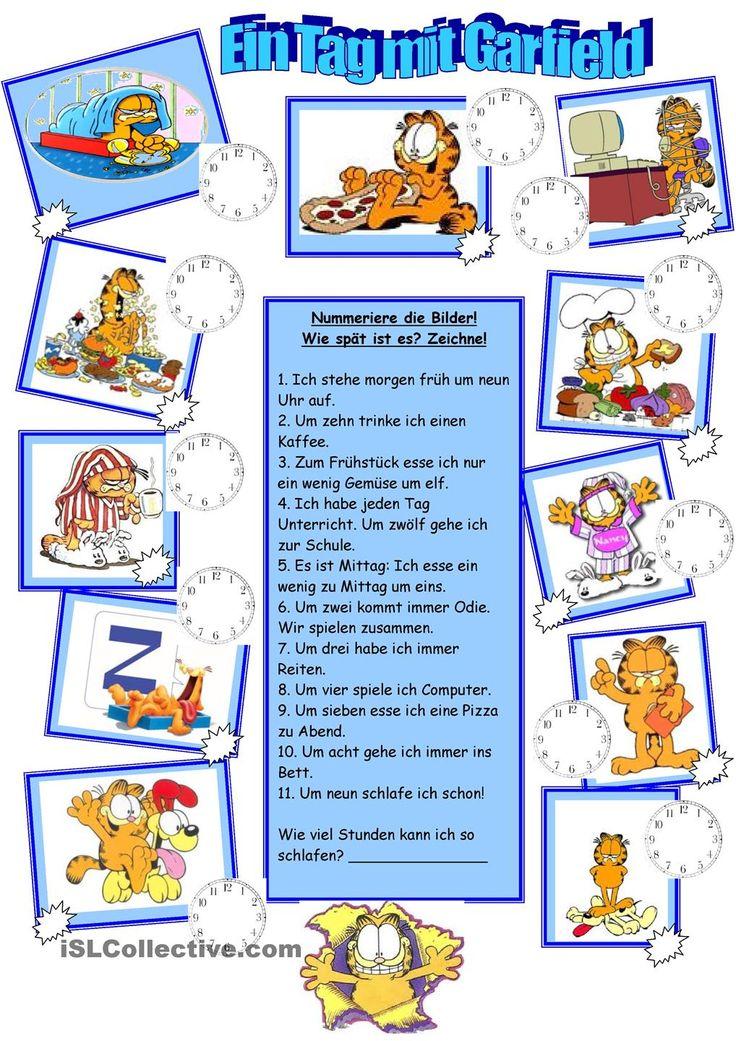 Garfields Tagesablauf