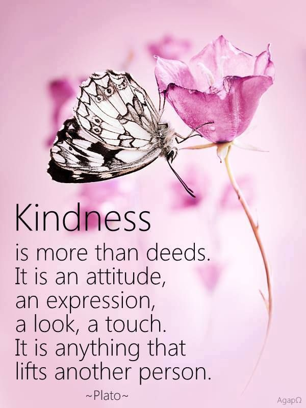 Kindness is more than deeds... <3