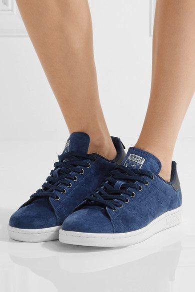 adidas Originals - Stan Smith Suede Sneakers - Storm blue - US5.5