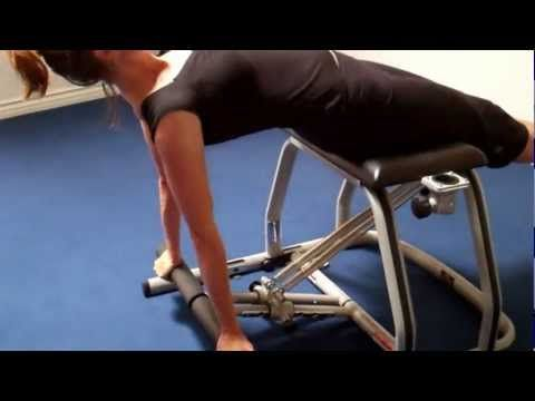 Pilates Chair workout video.  Detailed instructor on how to adjust and flow through the exercises.  http://www.pilates-back-joint-exercise.com/pilates-chair.html