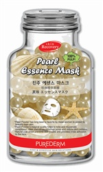 "PUREDERM Pearl Essence mask has long been a favorite by Asian women to protect and beautify their skin.  Pearl powder's magical quality helps to tone and rejuvenate complexion, clear blemishes, minimize pores and reduce skin redness.  This natural pulp sheet prevents skin trouble and provides close adhesion to the face.        Skin recovery ""Bottle shaped"" sheet type essence mask.         100% Natural pulp sheet prevents skin trouble and provides close adhesion to skin.      Pearl Powder…"