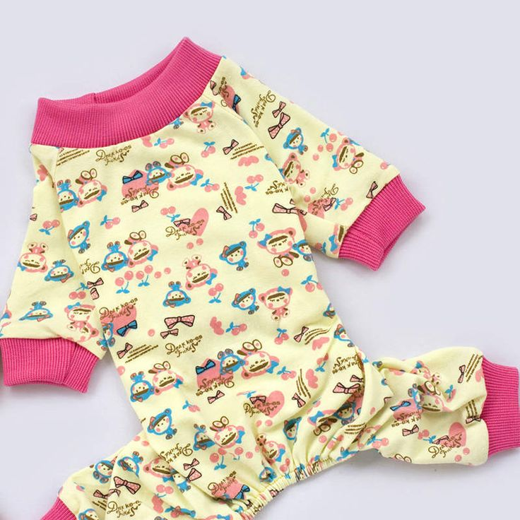 Clothes for dogs Pet Dog Pajamas Cute Cotton Soft Warm Jumpsuit Puppy Nightwear Clothing For Dogs